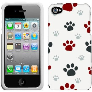 Apple Iphone 4 4s Paw Print Clip Art Hard Case Phone Cover