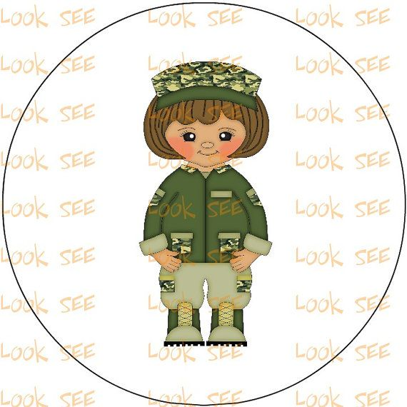 Army Military Clipart Clip Art Instant Digital Download No  1185 Girl