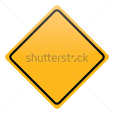 Blank Yellow Warning Sign Isolated Stock Vector   Clipart Me
