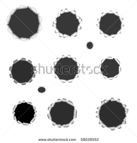Bullet Holes Textures  Easy To Use On Any Image   Stock Photo