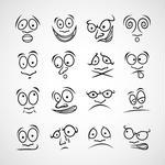 Cartoon Emotions Euro Icon Set Stock Vector   Clipart Me