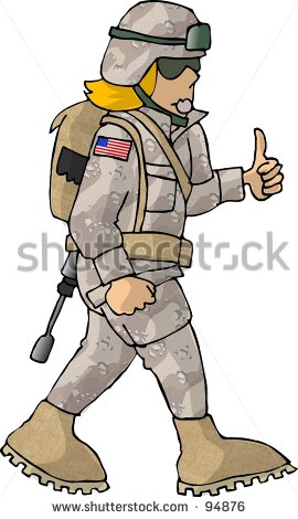 Clipart Illustration Of A Us Army Girl   94876   Shutterstock