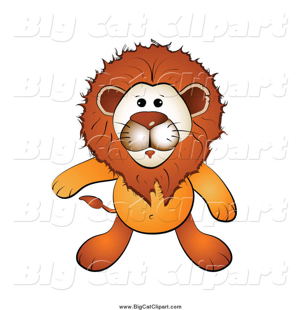 Larger Preview  Big Cat Cartoon Vector Clipart Of A Roaring Male Lion