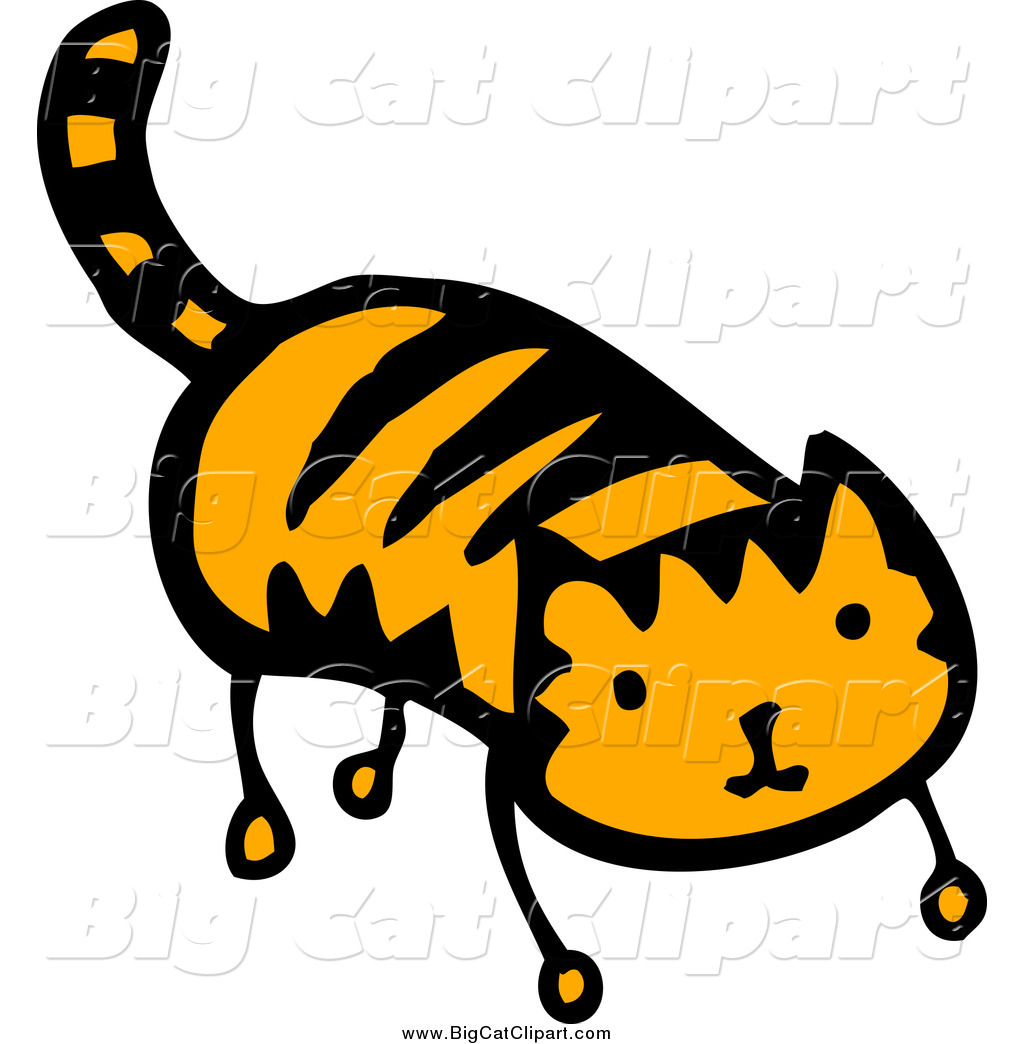 Preview  Big Cat Cartoon Vector Clipart Of A Tiger Ginger Cat