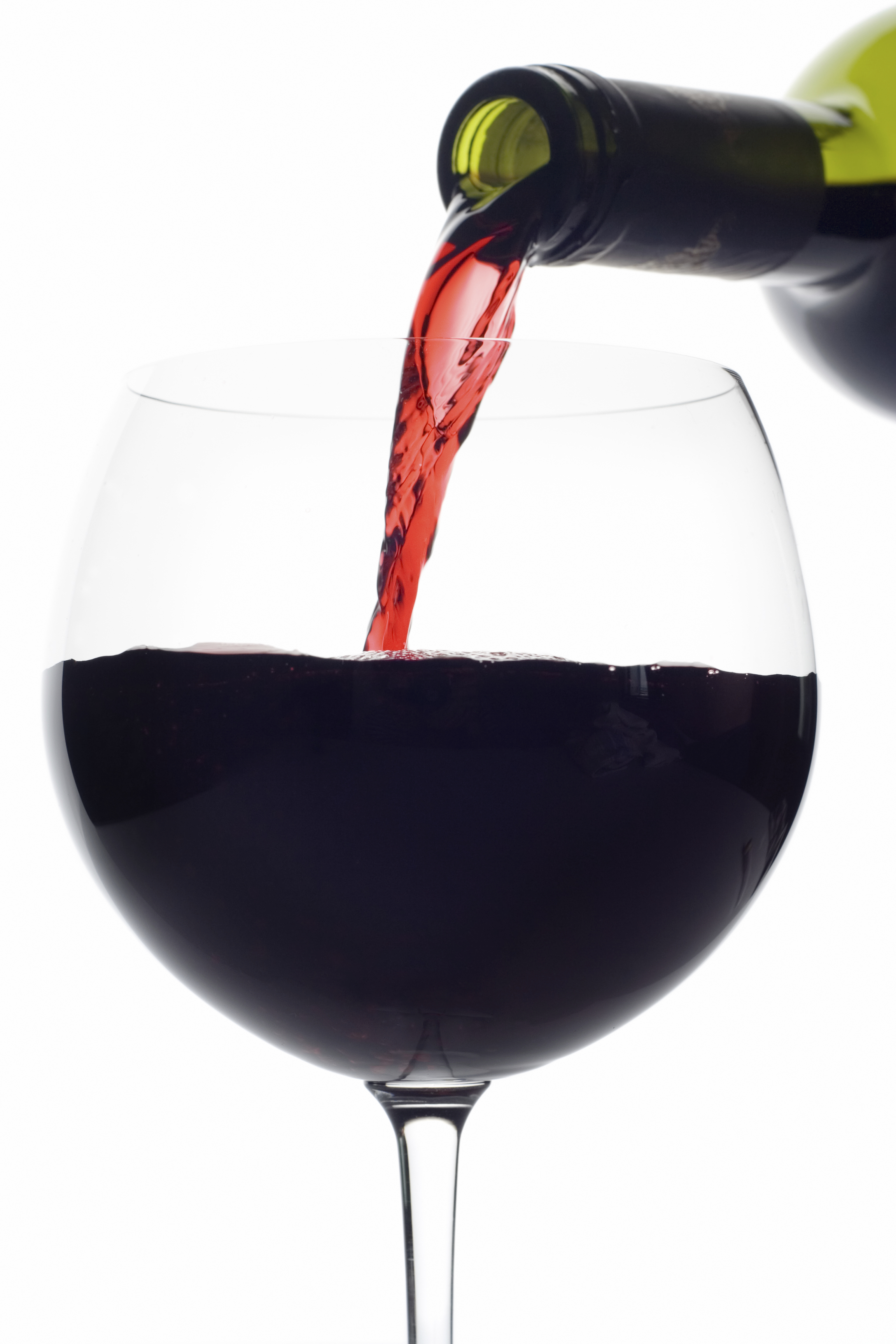 red wine pouring down from a wine bottle clipping path included bottle red wine