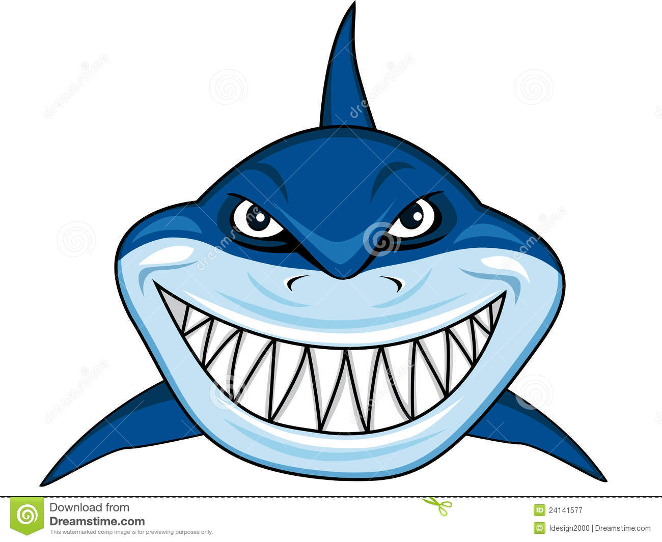 Smiling Shark Clipart   Clipart Panda   Free Clipart Images