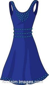 Clip Art Girl In Blue Dress Clipart - Clipart Kid