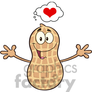 8739 Royalty Free Rf Clipart Illustration Funny Peanut Cartoon Mascot