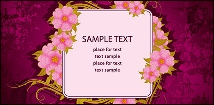 Beautiful Flowers Vector Bulletin Board Material Clip Arts Free Clip