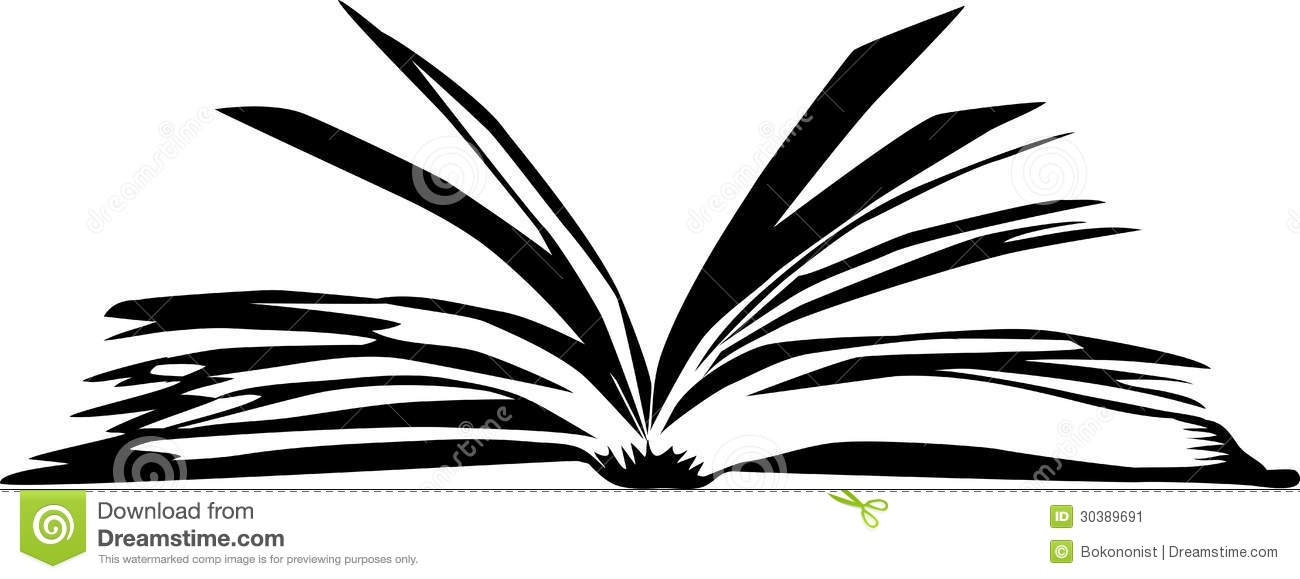 Books Black And White Clipart Book Black White Illustration