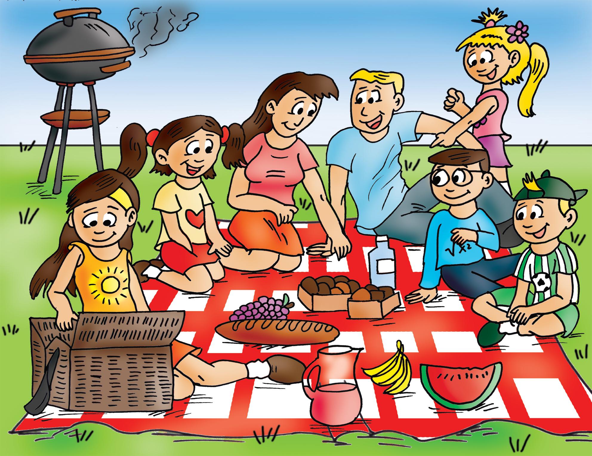 Cartoon Family Picnic Clipart Family Picnic Clipart