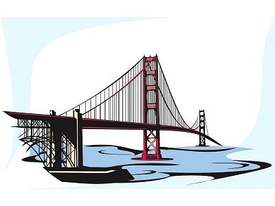 Clip Art Clipart Bridge golden gate bridge clipart kid best