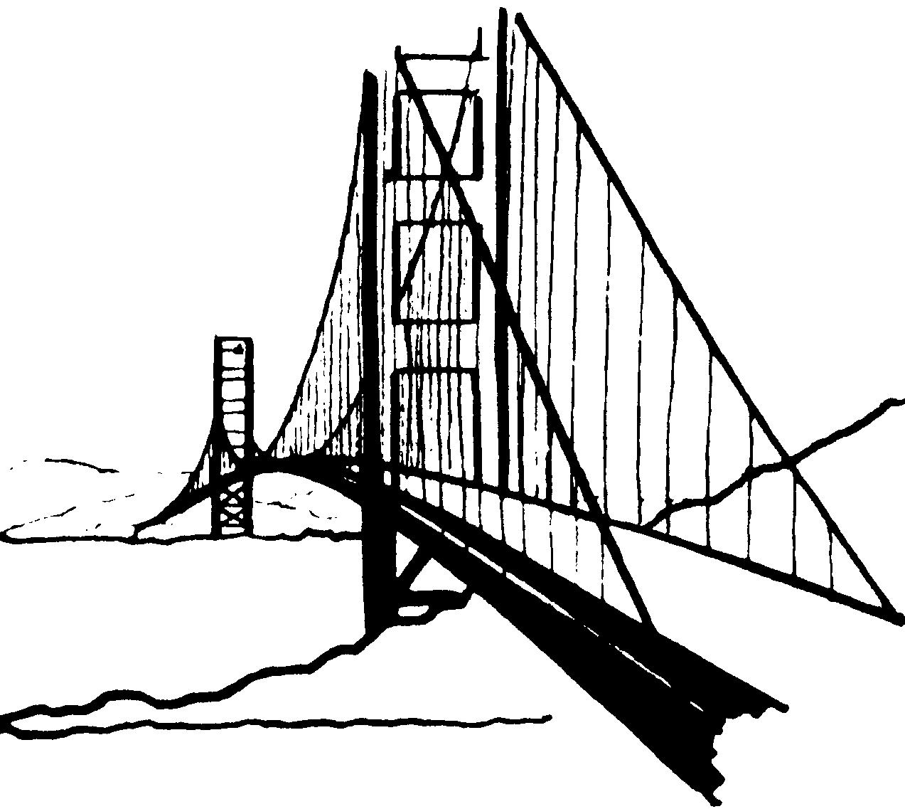 Clip Art Golden Gate Bridge Clipart golden gate bridge clipart kid cliparts co