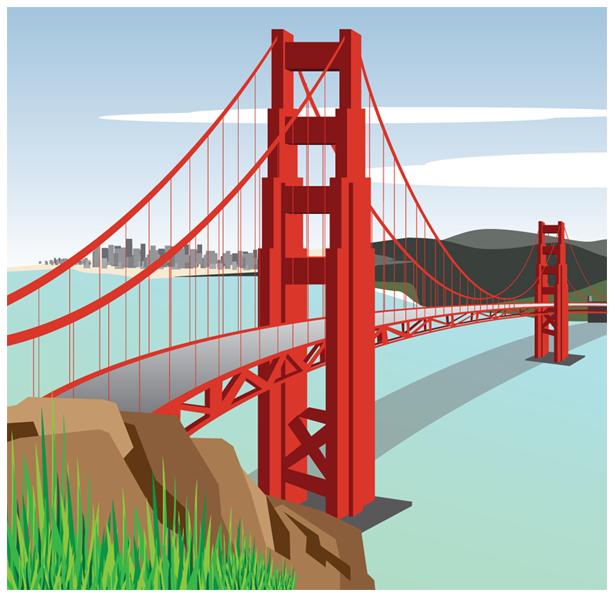 Clip Art Golden Gate Bridge Clipart golden gate bridge clipart kid vector