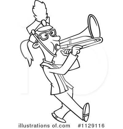Marching Band Instruments Border Clipart