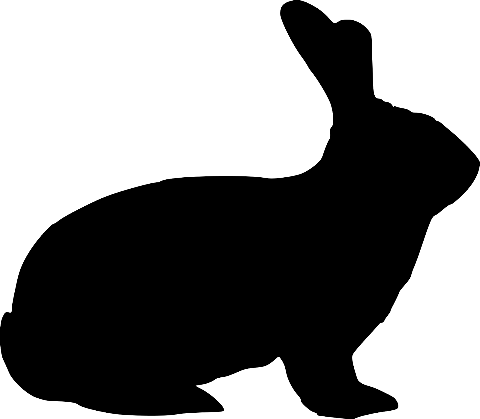 Rabbit Silhouette Clipart - Clipart Kid