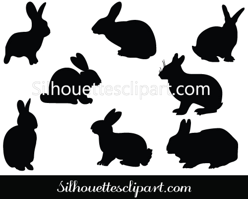 Rabbit Silhouette Stock Photos Royalty Free Rabbit