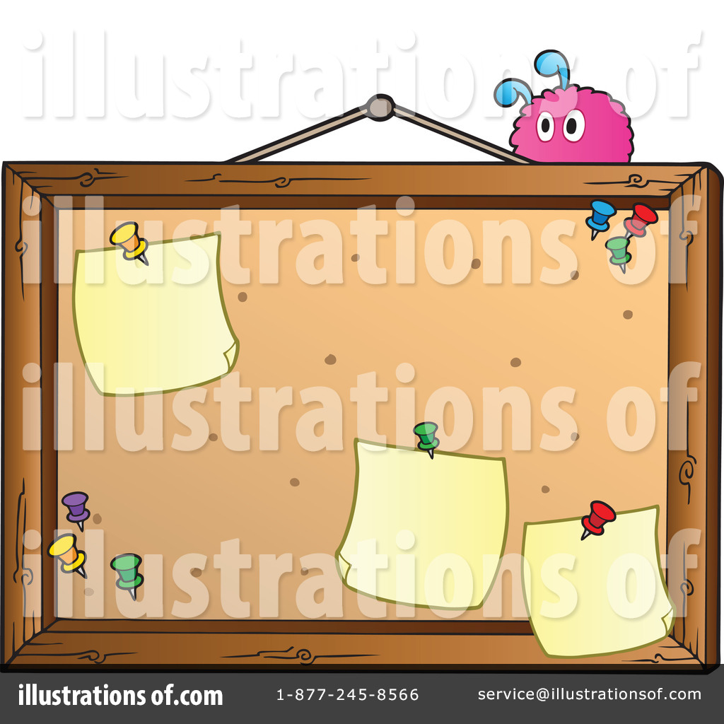 Royalty Free  Rf  Bulletin Board Clipart Illustration By Visekart