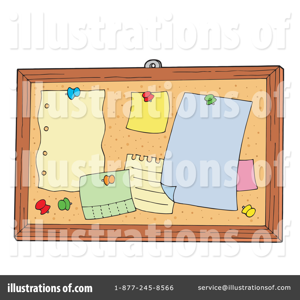 Royalty Free Rf Bulletin Board Clipart Illustration By Visekart Stock
