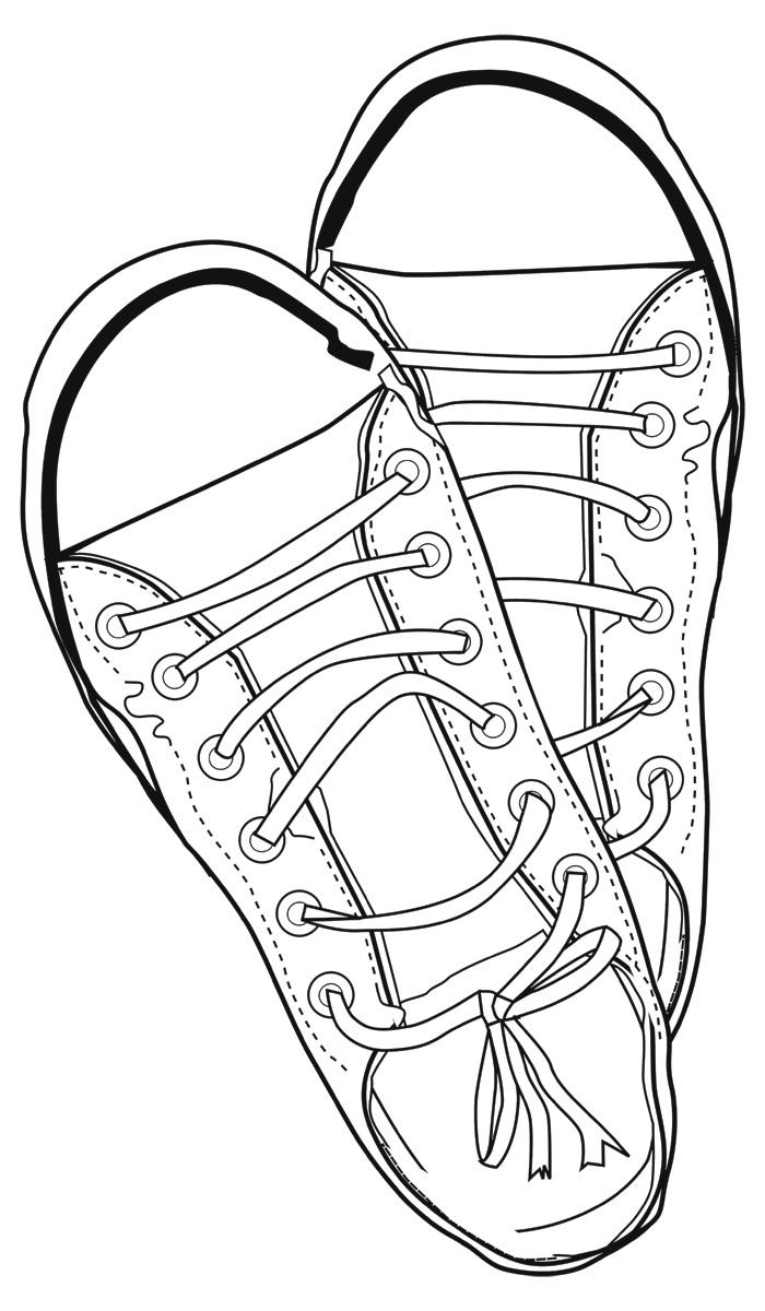 Line Art Shoes : Tennis shoe bottom clipart suggest