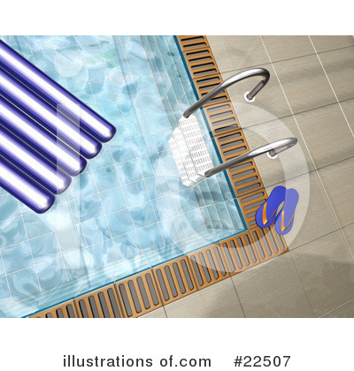 Swimming Pool Clipart  22507 By Kj Pargeter   Royalty Free  Rf  Stock