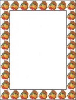 Borders For Thanksgiving Crafts