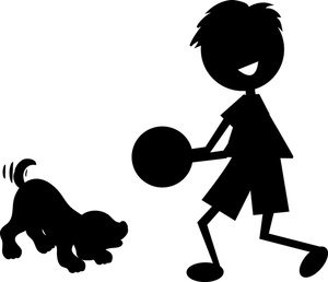 Boy And Dog Clip Art Images Boy And Dog Stock Photos   Clipart Boy And