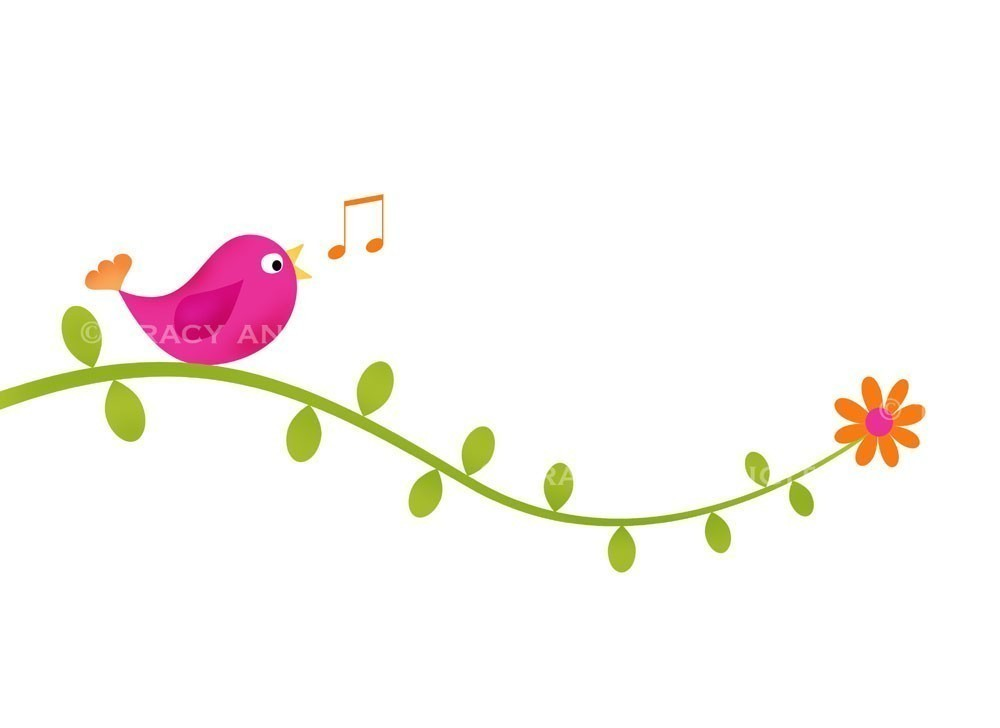 Clip Art Bird On Vines For Commercial And By Tracyanndigitalart