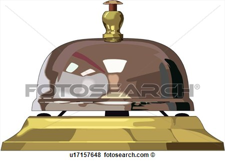 Clip Art Of Call Bell U17157648   Search Clipart Illustration Posters