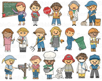 Clip Art Community Helpers Clip Art community helper black and white clipart kid helpers clipart