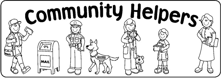 Clip Art Community Helpers Clip Art community helper black and white clipart kid helpers coloring pages preschool helpers