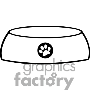 Dog Bone In Bowl Clipart   Clipart Panda   Free Clipart Images