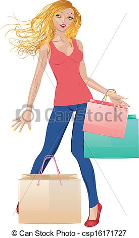 Blonde Woman Clip Art