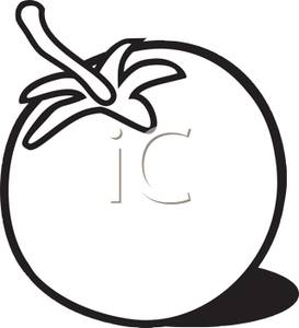 Grocery Clipart Black And White Black And White Tomato 101006 233849