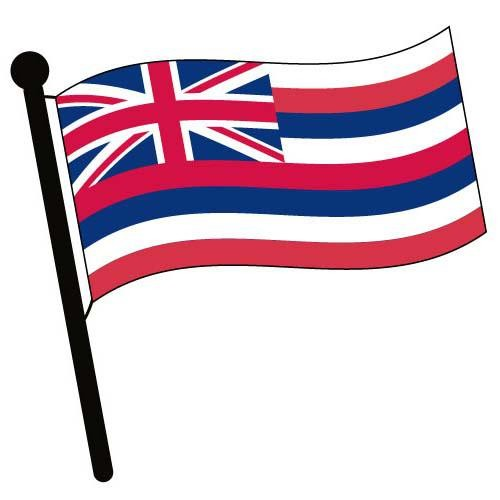 Hawaii Waving Flag Clip Art   American Flag Pictures   Accessories