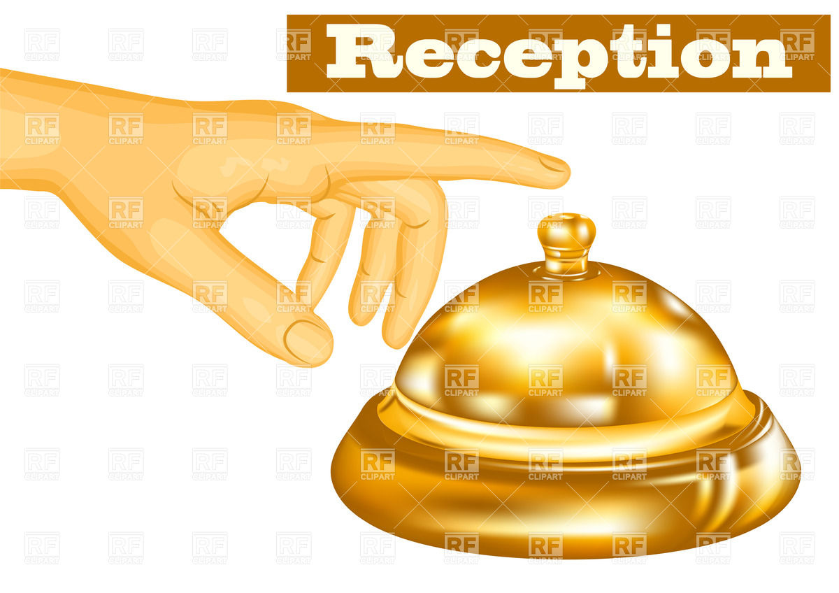 Reception Service Bell Download Royalty Free Vector Clipart  Eps