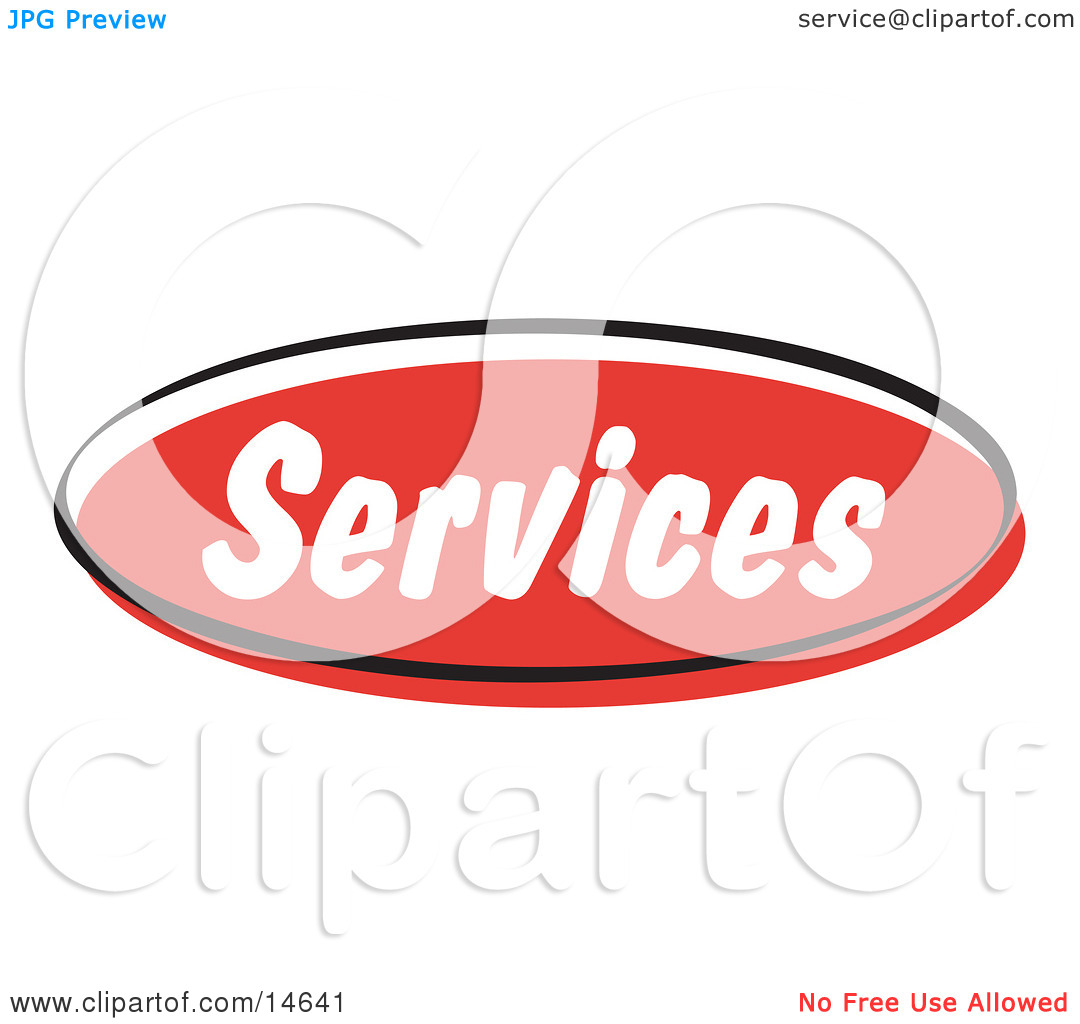 Red Services Internet Website Button Clipart Illustration By Andy