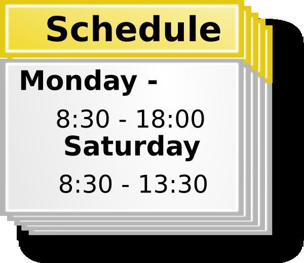 Schedule Clip Art Gallery Online
