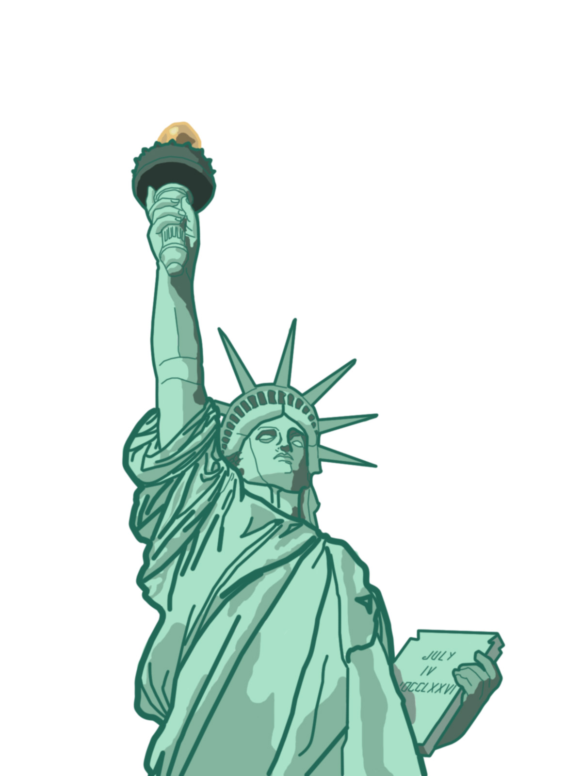 Statue Of Liberty Cartoon Clipart - Clipart Suggest
