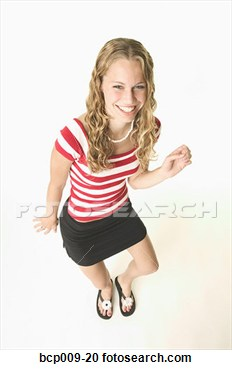 Stock Photography   Blonde Teenage Girl Dancing   Fotosearch   Search