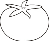 Tomato Clip Art Black And White Tomato  Black And White
