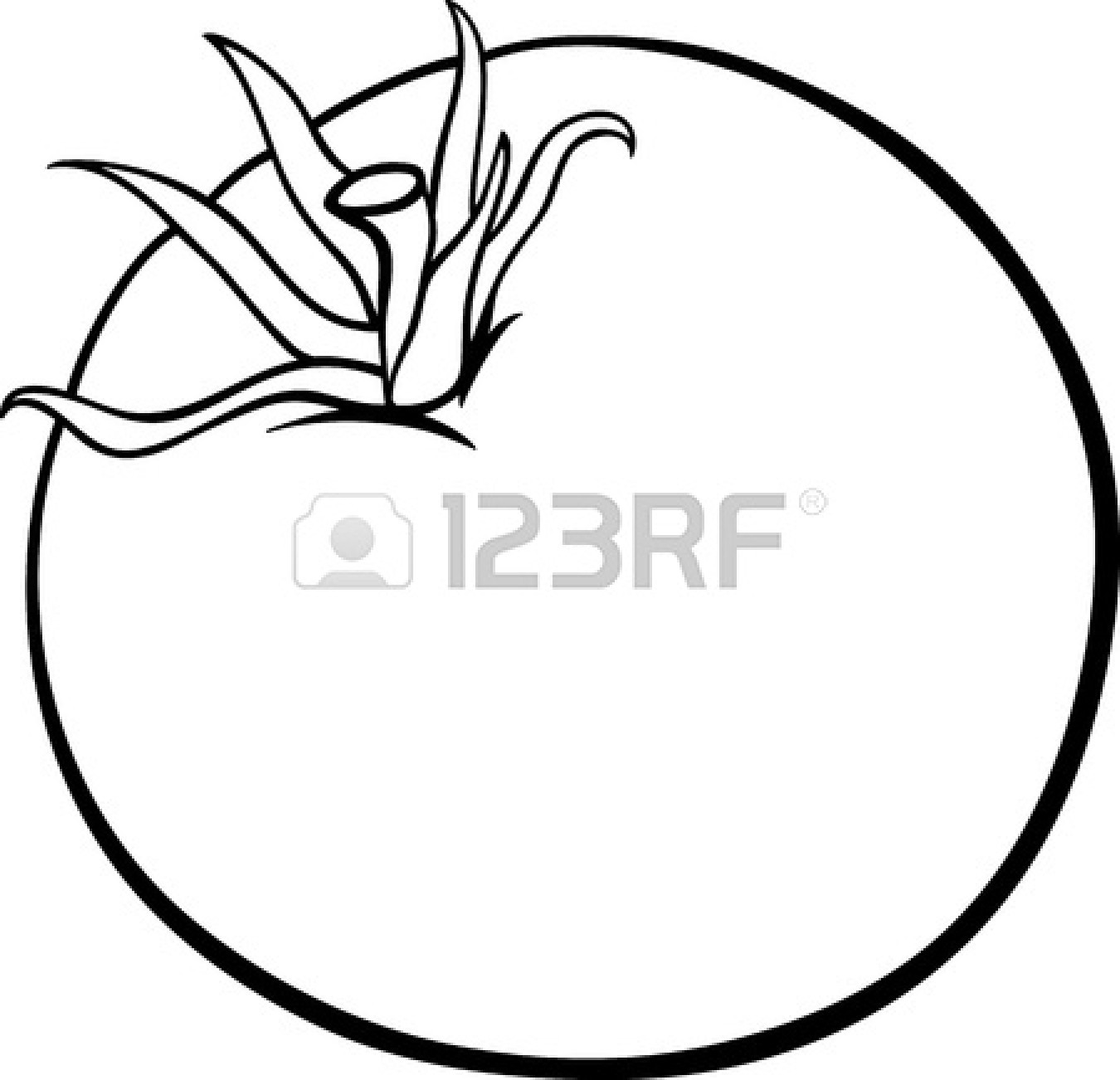 Tomato Clipart Black And White 18869168 Black And White Cartoon