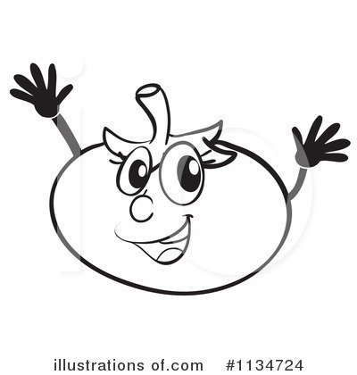 Tomato Clipart Black And White Royalty Free  Rf  Tomato