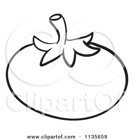 Tomato Black And White Clipart - Clipart Kid