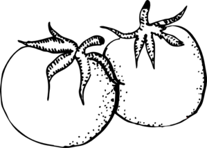 Tomatoes Black And White Clip Art At Clker Com   Vector Clip Art