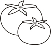 Tomatoes Clip Art Black And White
