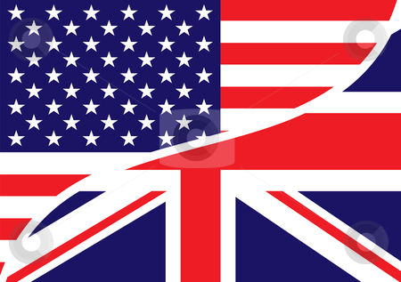 Usa British Flag Stock Vector Clipart Combined Usa And British Flags
