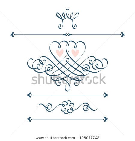 Wedding Curly Cue Clipart