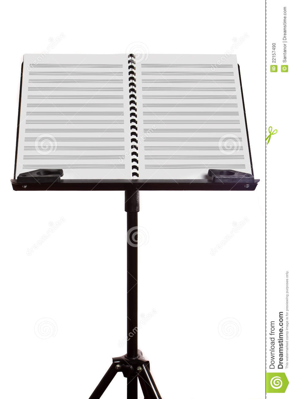 Blank Music Sheet On Stand Stock Photo   Image  22157490