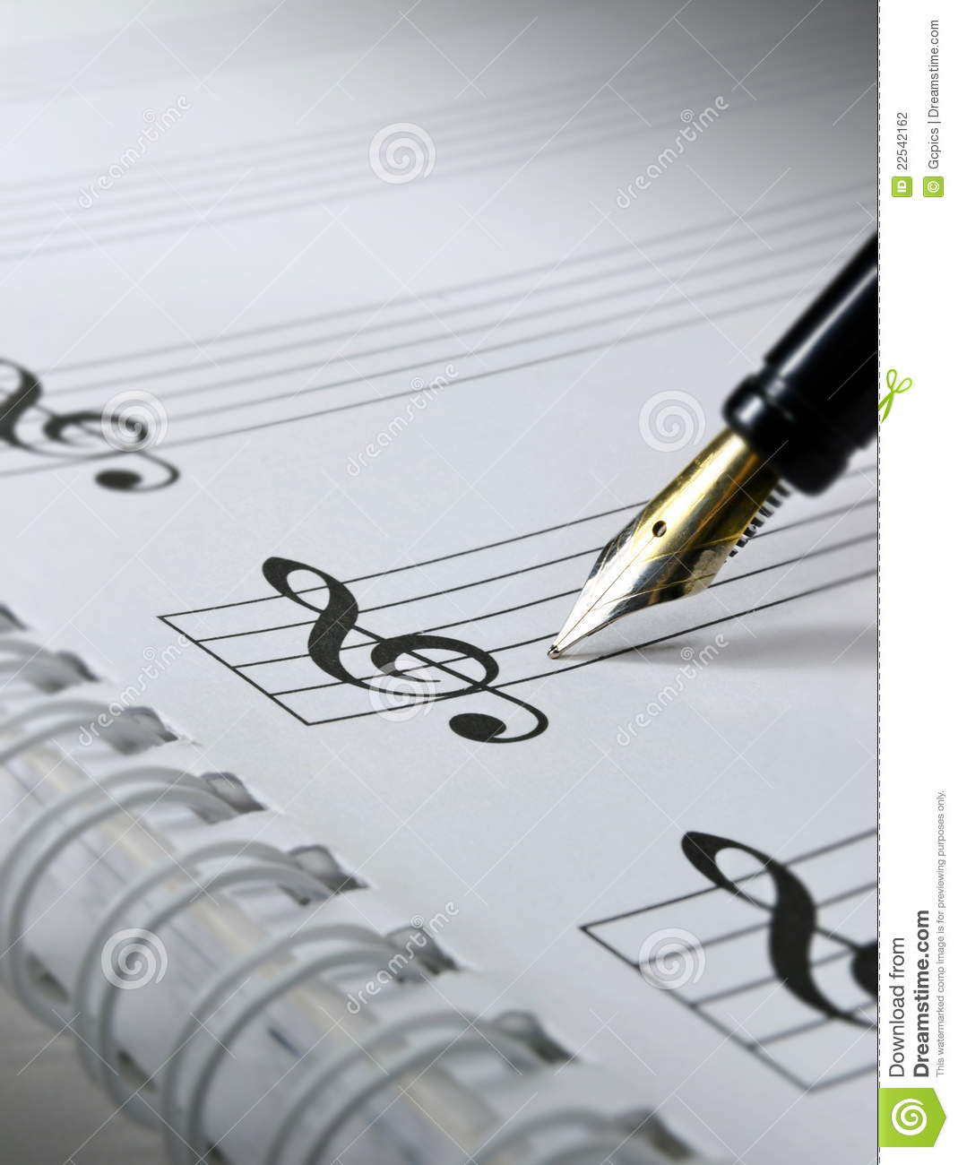 Blank Sheet Music Stock Photography   Image  22542162